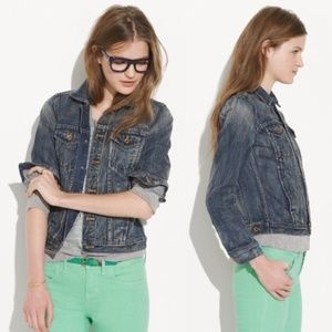 Madewell Jean Jacket in Storm Cold Wash
